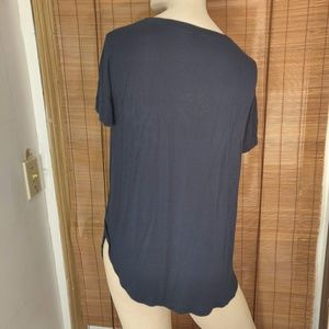 H by bordeaux Tops - H by Bordeaux slit sides dark gray top size small